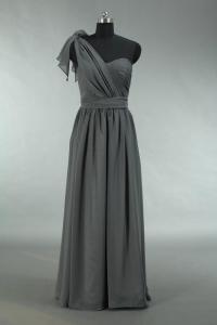 Cheap Grey Prom Dress, Long Convertible Chiffon Prom Dress ...