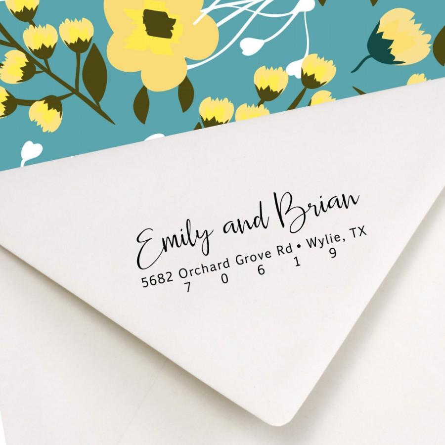 address stamp wedding invitations