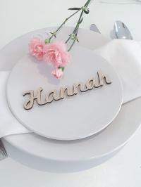 Wooden Wedding Place Name, Wooden Wedding Place Setting ...