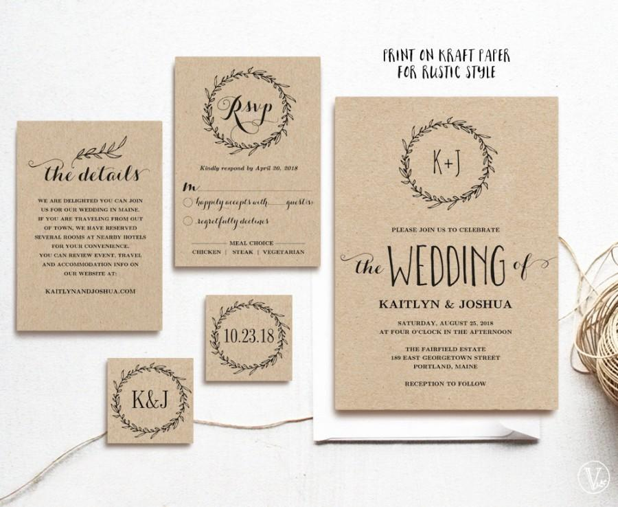 Affordable 3 1 Wedding Invitations