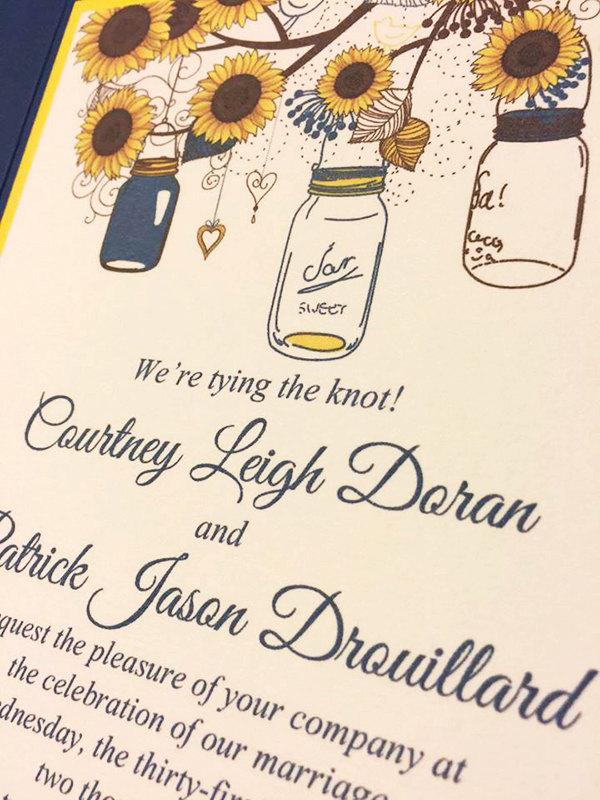 Sunflower Wedding Invitation Templates