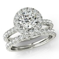 1.50 Ct Forever One Moissanite And Diamond Wedding Set