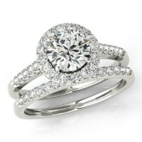 Moissanite Wedding Sets - Forever One Moissanite & Diamond ...