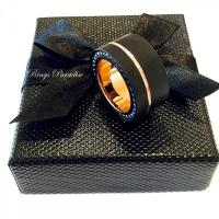 Mens Tungsten Ring, Black Rose Gold Tungsten, Mens Promise ...