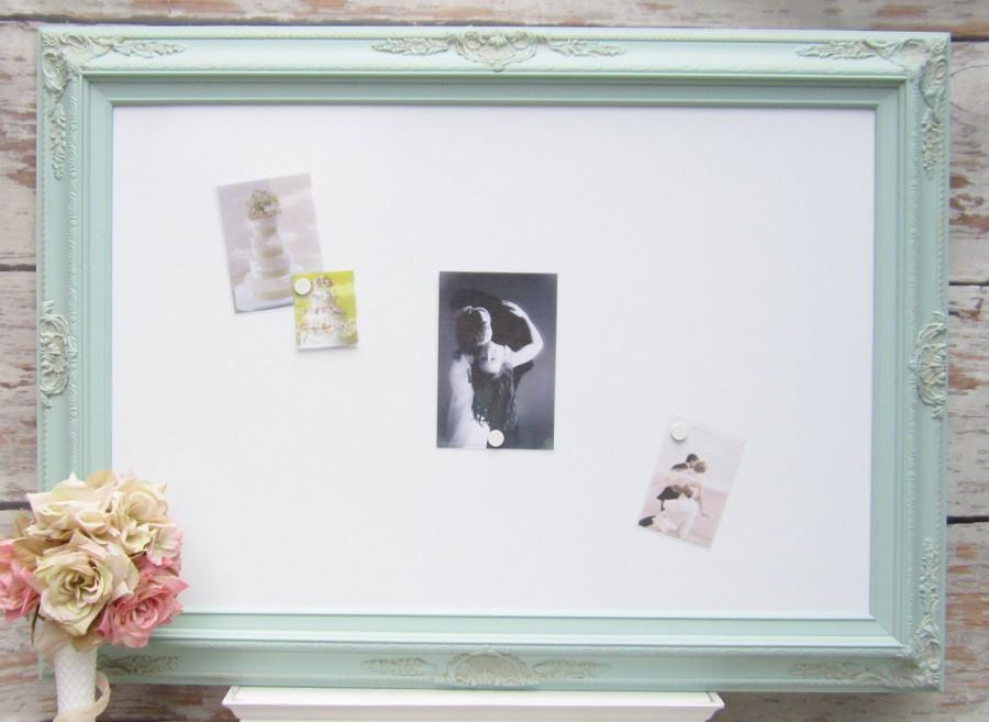 LARGE FRAMED WHITEBOARD Art Nursery Board Seafoam Green 44