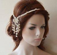 Wedding Head Chain, Pearl Hair Jewelry, Bridal Hair ...