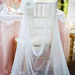 Fancy Chair Covers X Rocker Gaming Instructions Lovely Ivory Chiffon Chiavari Cover With Pearl Brooch Flower Or Crystal Draping Sash Bride
