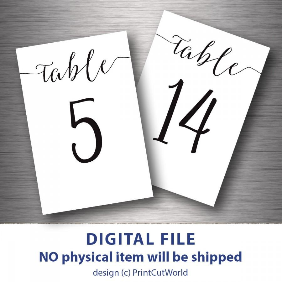 Table Numbers Printable 4x6 Classic Wedding Table Number 1