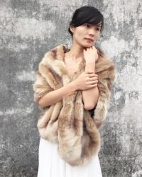 Bridal Shawl, Bridal Fur Stole, Faux Fur Wrap, Winter ...