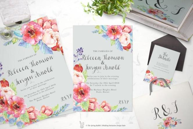 Printable Wedding Invitation Suite Customizable