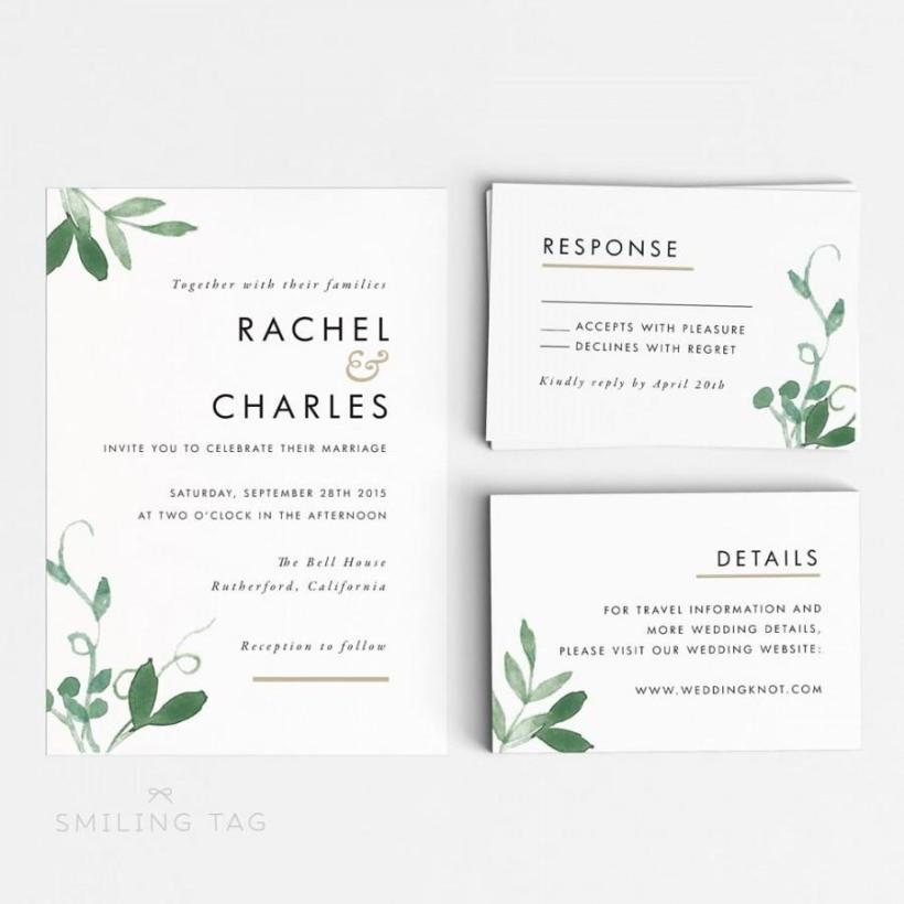 Rsvp Wedding Card Size