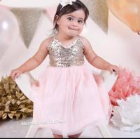 Pink And Gold Girls Sequin Dress Toddler Girls Gold ...