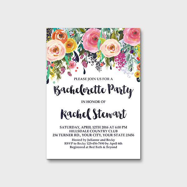 bachelorette party invitation printable