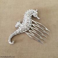 Beach Wedding Hair Accessories, Seahorse Comb, Seahorse