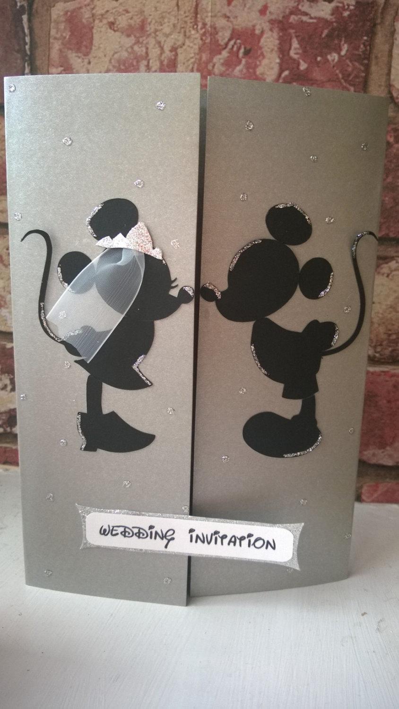 Minnie & Mickey Mouse Wedding Card Invitation #2535489