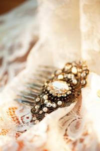 Bridal Hair Comb, Antique Gold Hair Comb, Wedding ...