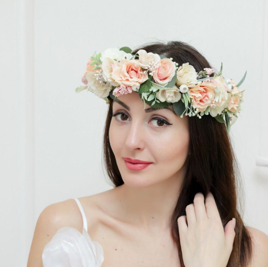 bridal floral crown flower