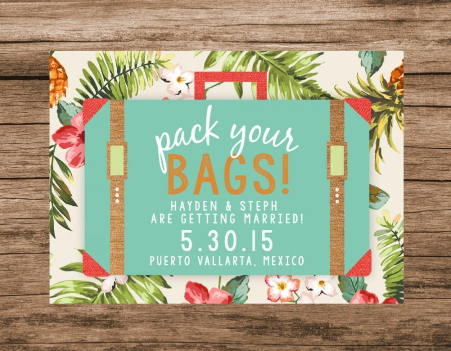Destination Save The Date, Tropical Save The Date, Pack