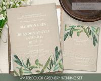 Einladung - Greenery Wedding Invitation Set #2537081 ...