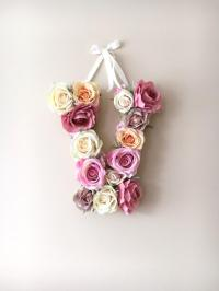 Flower Letters, Floral Letters, Vintage Wedding Decor ...