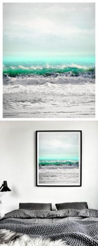 Sea Art Print, Extra Large Wall Art, Seascape Art ...