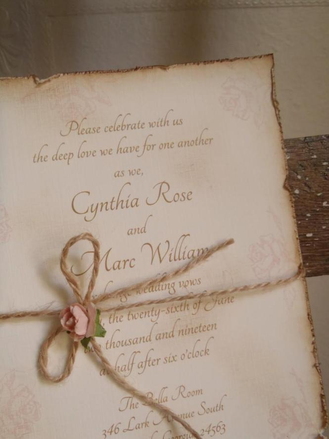 Romantic Vintage Wedding Invitations Mixed With Artistic Blue Fl Border And Attractive