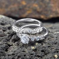 Ring, Classic Engagement Ring Set, Solitaire Diamond ...
