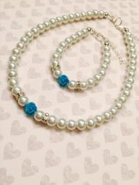 Flower Girl Jewelry Set, Flower Girl Necklace, Flower Girl ...