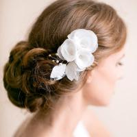 Bridal Hair Piece Ivory Or White - Flower Hair Piece ...