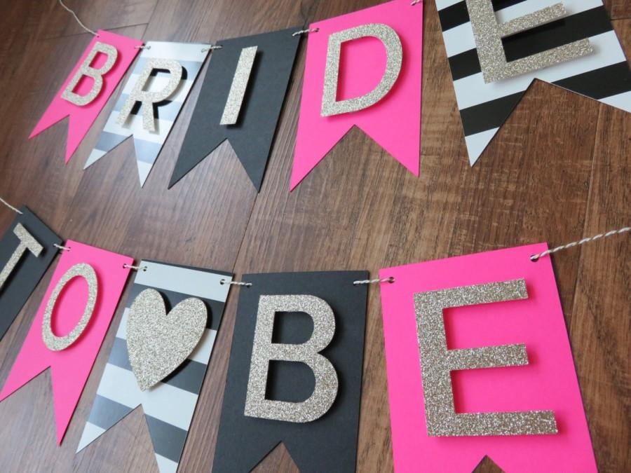 Kate Spade Party Theme Bride To Be Banner Pink Gold