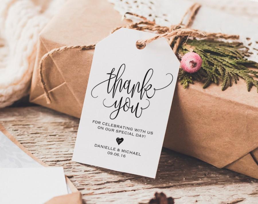 thank you tag wedding