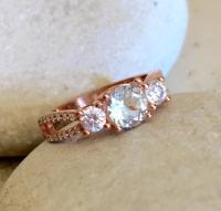 Rose Gold Aquamarine Ring- Anniversary Ring- Promise Ring ...