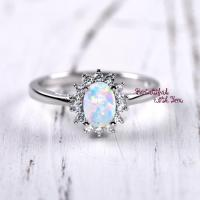 Unique Engagement Ring, Womens Promise Rings, White Lab