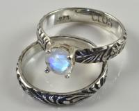 Moonstone Engagement Ring In Sterling Silver, Faceted ...