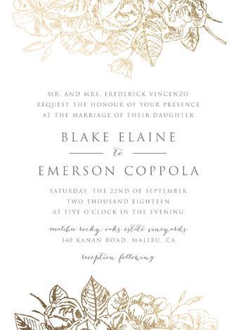Gilded Wildflowers Customizable Foil Pressed Wedding