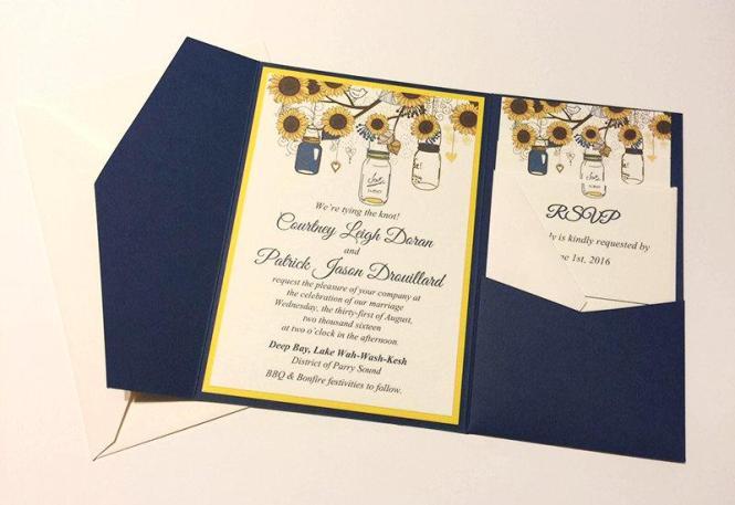 Sunflower Wedding Invitation Kits – Sunflower Wedding Invite