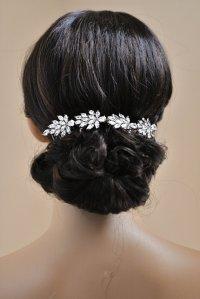 Wedding Hair Chain Bridal Hair Chain CZ Crystal Hair Wrap ...
