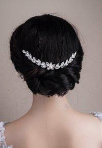 Wedding Hair Chain Bridal Hair Chain Swarovski Pearls CZ ...
