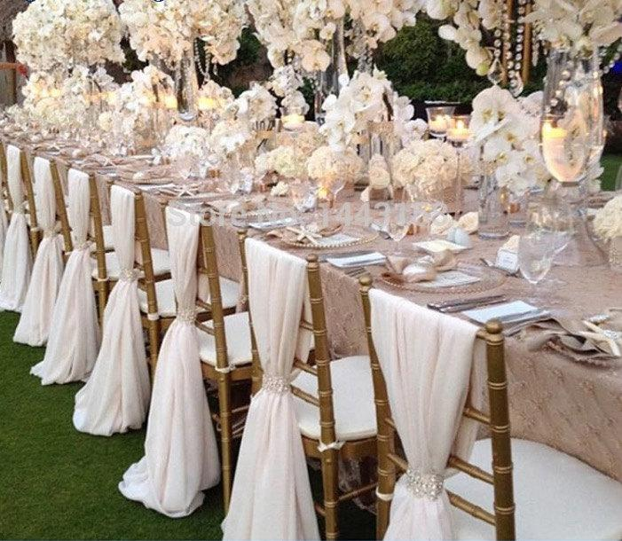 wedding chair sash dining chairs world market chiffon many colors decor chiavari cover