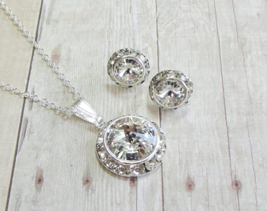 Bridesmaid Jewelry Diamond Bridal Earring Flower Girl