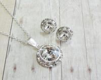 Bridesmaid Jewelry Diamond Bridal Earring Flower Girl ...