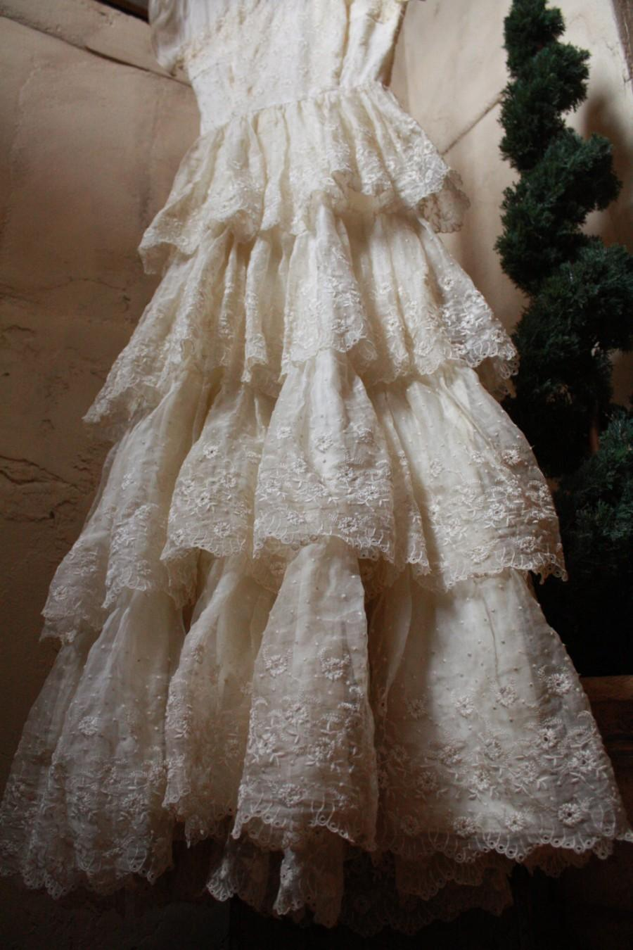 Antique Dress Vintage Wedding Dress Bohemian Dress