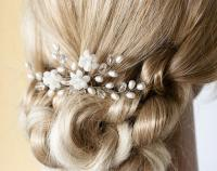 White Hair Pin, Bridal Hair Accessories, Pearl Hair Pins ...