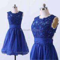 Royal Blue Prom Dress,Chiffon Bridesmaid Dress,Lace ...