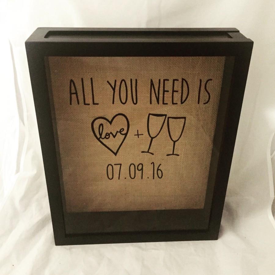 Wine Cork Shadow Box, Wine Cork Holder, Wedding Gift