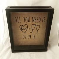 Wine Cork Shadow Box, Wine Cork Holder, Wedding Gift