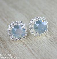 Blue Bridal Earrings,something Blue,dusty Blue Earrings ...