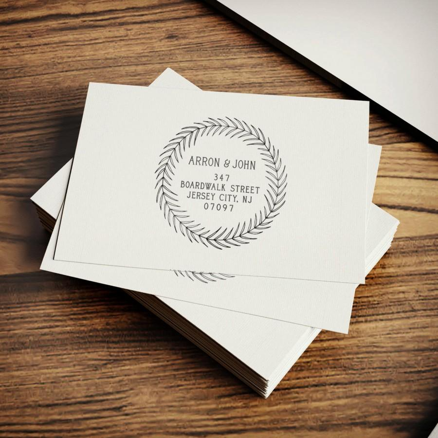 personalized address stamp holiday