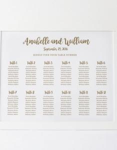 Wedding seating chart template plan floral poster editable table card edit in word also rh weddbook