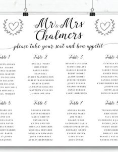 Wedding seating sign black and white plan modern horizontal chart    also rh dedbook